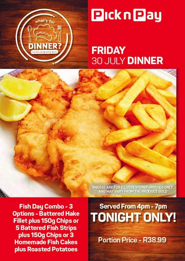 FRIDAY - FISH DAY COMBO - 3 OPTIONS