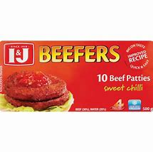 I&J BEEFERS BEEF PATTI SWT CHILLI 500G