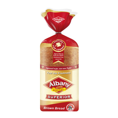 ALBANY SUPERIOR BROWN SLICED BREAD 700GR