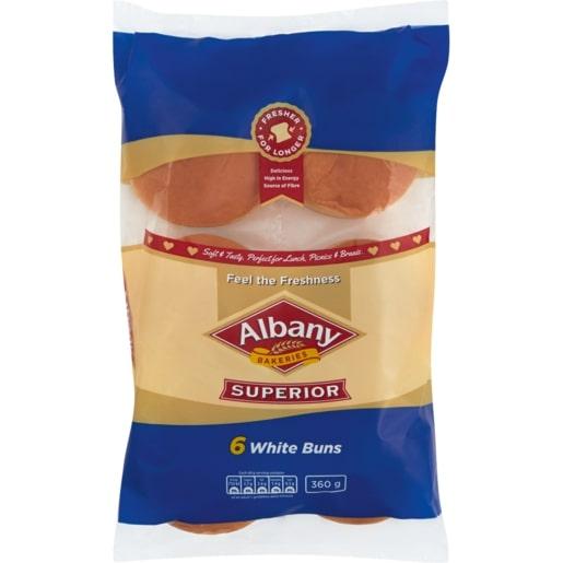 ALBANY SUPERIOR BUNS WHITE 360GR