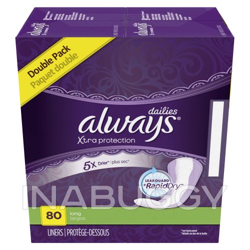 ALWAYS PANTY LINERS NORMAL SCENTED 80EA