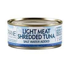BLUE CRANE LIGHT MEAT SHREDDED TUNA  IN SALT WATER 170GR