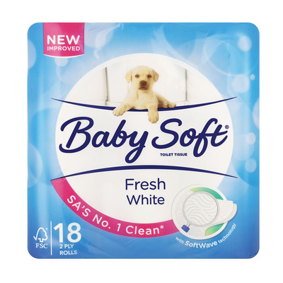 BABY SOFT T/PAPER WHITE 2PLY 18EA