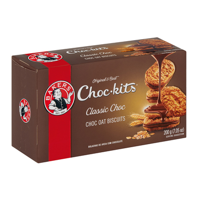 BAKERS BISC CHOC-KITS 200GR