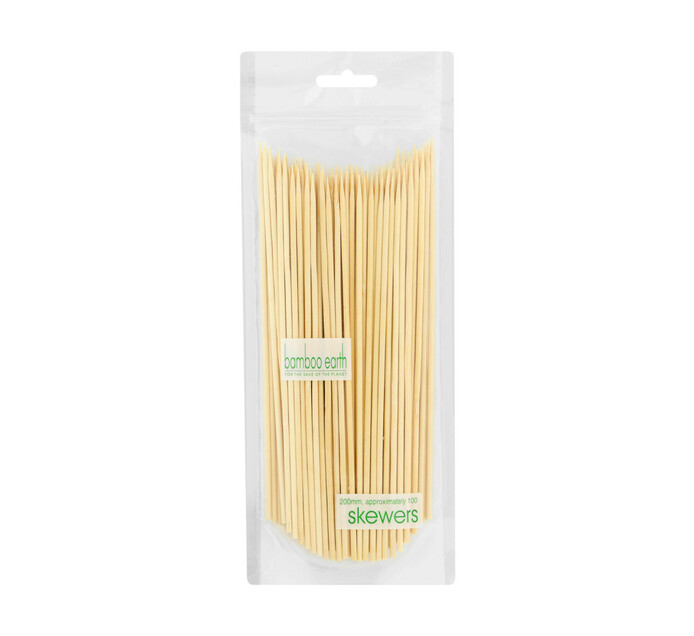 BAMBOO EARTH BAMBOO SKEWERS 200MM 1EA