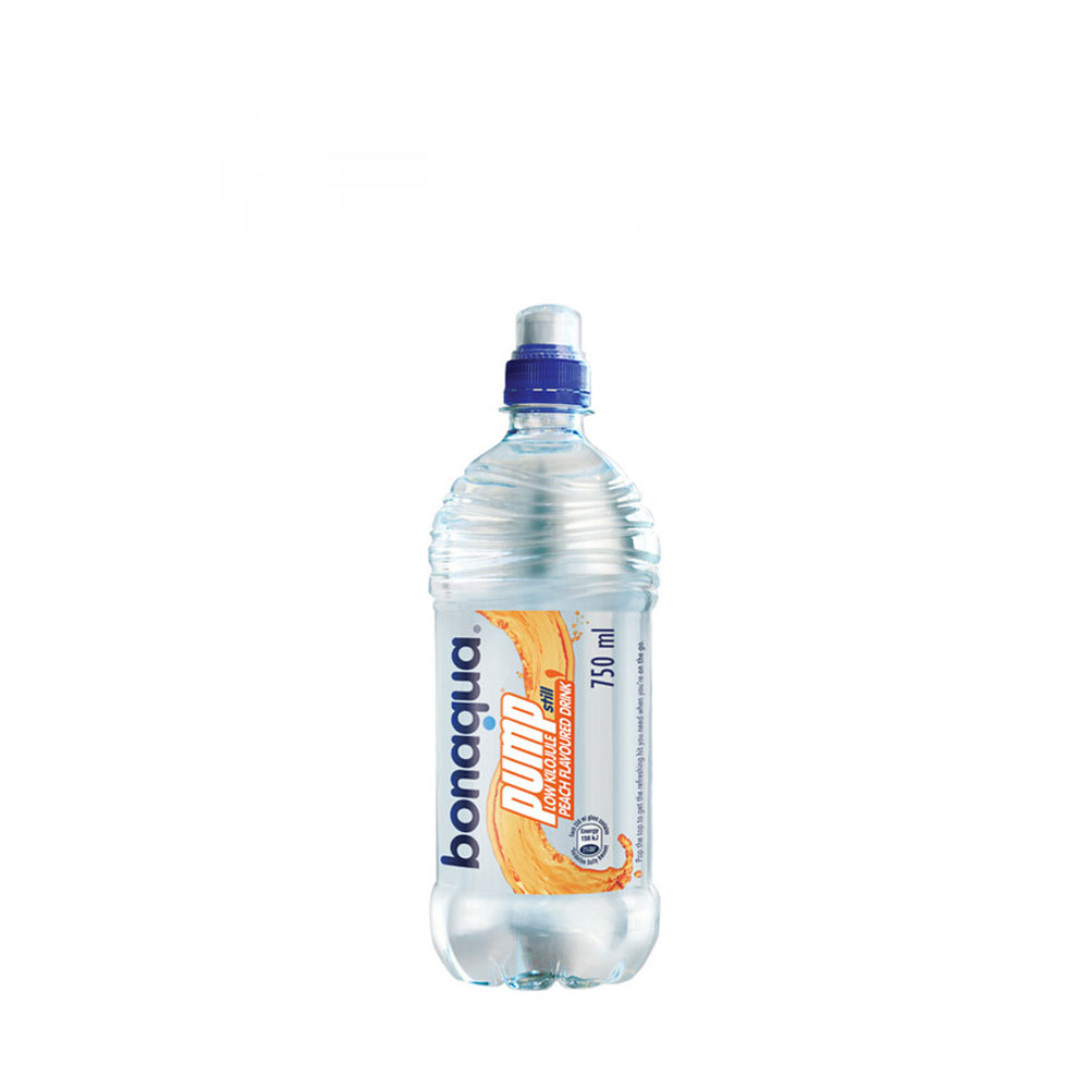 BONAQUA PUMP PREPARED S/W PEACH 750ML