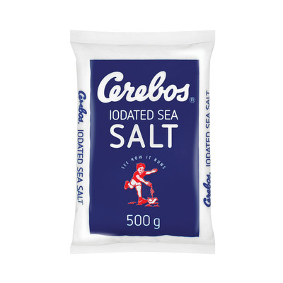 CEREBOS SALT IODATED TABLE POLY 500GR
