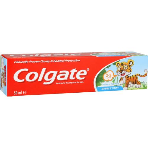 COLGATE A/CAVITY T/PAST BUBBLEFRUIT 50ML