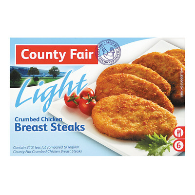 COUNTY FAIR LIGHT BREAST STEAKS 400GR