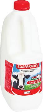 BOSPARADYS MILK LOW FAT 2L