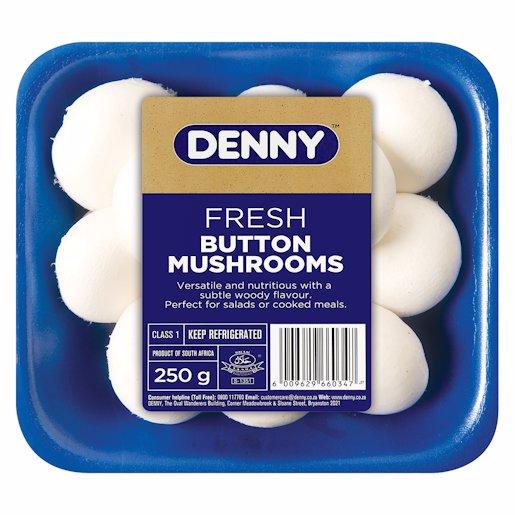 PRODUCE DENNY WHITE BUTTON MUSHROOMS 250GR