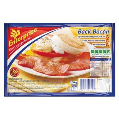 ENTERPRISE BACK BACON 200GR