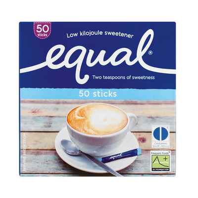 EQUAL SWEETENER STICK SACHET 50EA