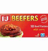 I&J BEEFERS BEEF PATTIE MILD CURRY 500g