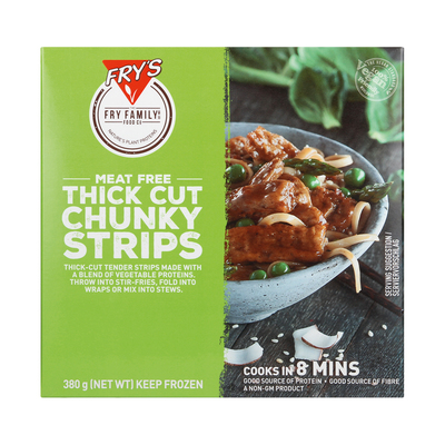 FRY'S CHUNKY BEEF STYLE STRIPS 380GR