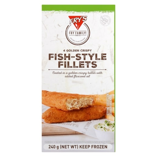 FRY'S FISH STYLE FILLETS 240GR