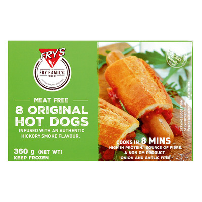 FRY'S MEAT FREE HOT DOG 360GR