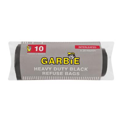 GARBIE H/DUTY BLACK REFUSE BAG 10EA