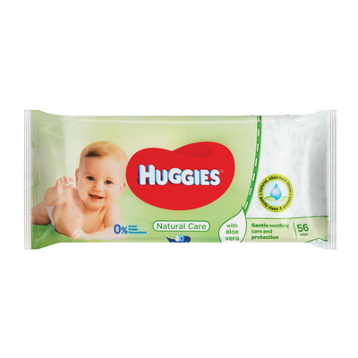 HUGGIES BABY WIPES NATURAL CARE 56EA