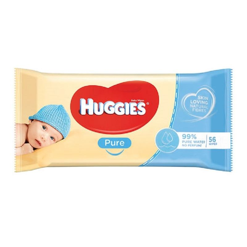 HUGGIES BABY WIPES PURE 56EA