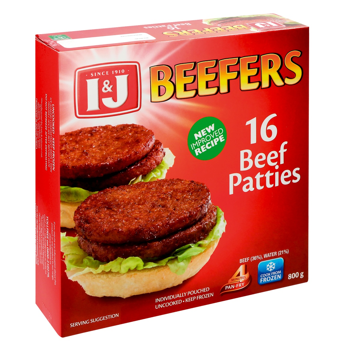 I&J BEEFERS 800GR