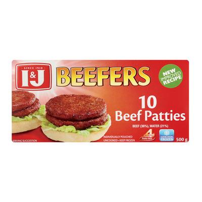 I&J BEEFERS STEAKBURGERS 500GR