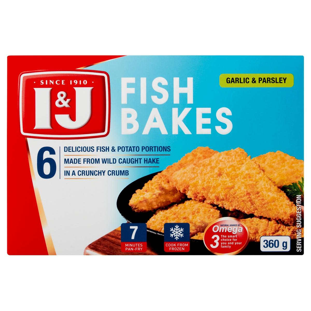 I&J FISH BAKE GARLIC 360GR