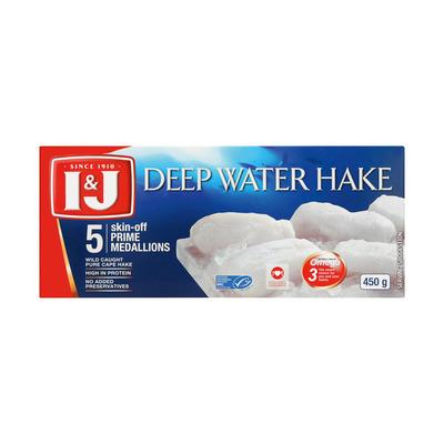 I&J HAKE PRIME MEDALLIONS 450GR