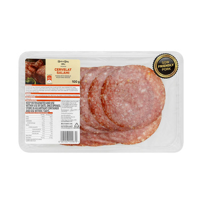 HOUSEBRAND SLICED HUNGARIAN SALAMI 100GR