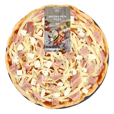 HOUSEBRAND BACON AND FETA PIZZA 431GR