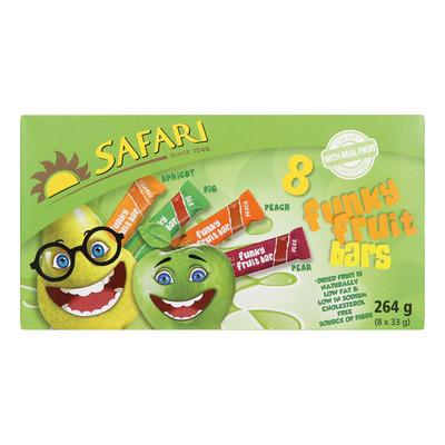 SAFARI FUNKY FRUIT BARS(8) 250GR