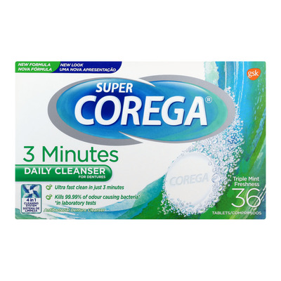 SUPER COREGA DENTURE CLEANSER 36EA